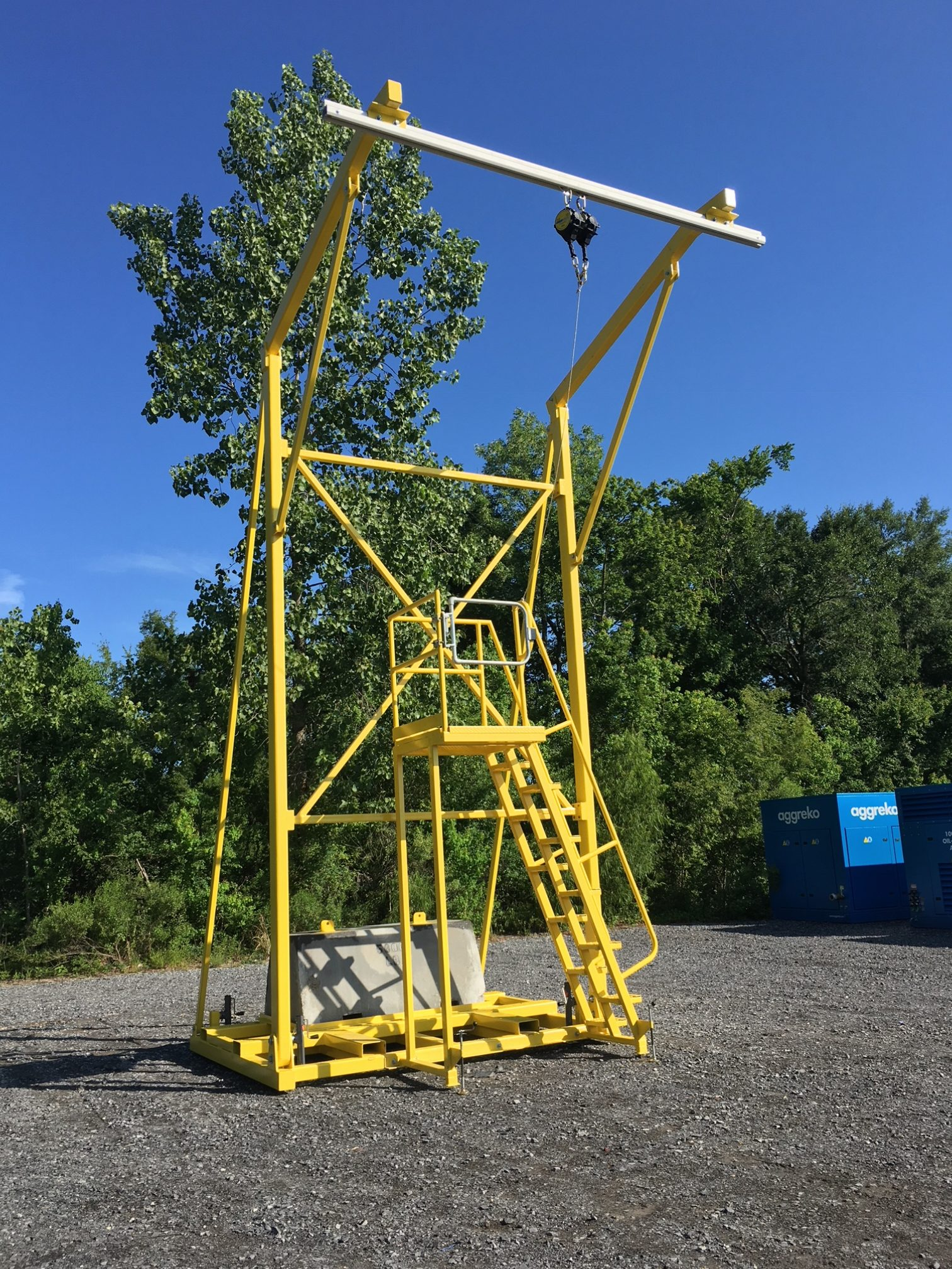 Portable Frame Counterweight System Pfcw Wrs Fall